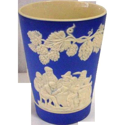 Antique Spode Copeland Blue Jasperware Wine Cup Ca. 1900