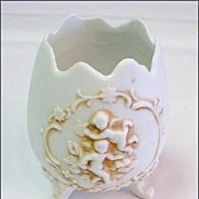 Bisque Egg Form Jar - Great for Vanity/Bathroom