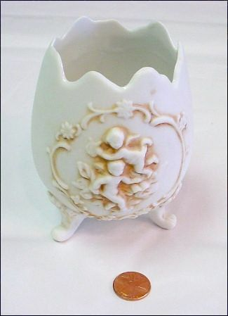 Bisque Egg Form Jar - Great for Vanity/Bathroom