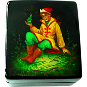 The Frog Princess Russian Lacquer Papier Mache Box