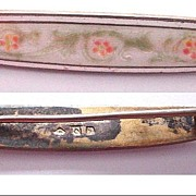 Champleve Enamel and Sterling Bar Pin