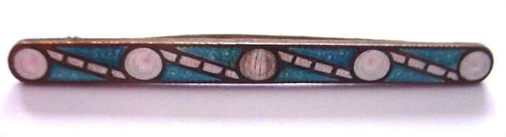 Art Deco Bubble Enamel Bar Pin