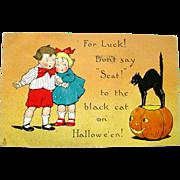 Raphael Tuck 1912 Halloween Postcard