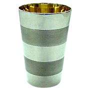 Heavy Sterling Silver Tumbler or Modern Style Kiddush Cup