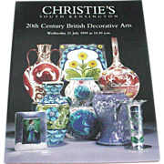Christie's 20th Century British Decorative Arts 1999 Auction Catalog