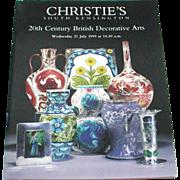 Christie's 20th Century British Decorative Arts 1999 Auction Catalog