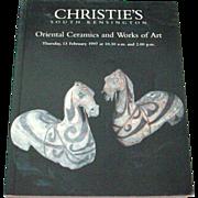 Christie's South Kensington Auction Catalog of Oriental Ceramics and Works of Art 1997