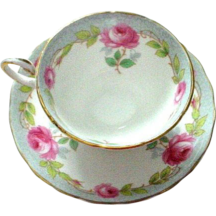 Tuscan England Pink Roses Cup and Saucer