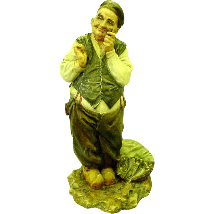 Vintage A. Borsato Italy Porcelain Figurine of Fisherman