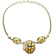 Golden Rhinestones in Goldtone Chain
