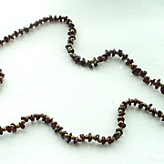 Vintage Garnet Chip Necklace