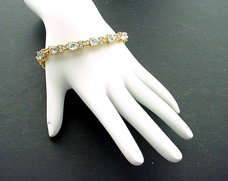 Monet Pear Shaped Faux Diamond Line Bracelet