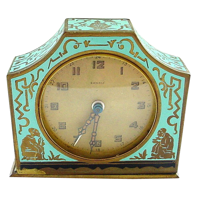 Antique French Enamel Case with Kienzle Germany Works