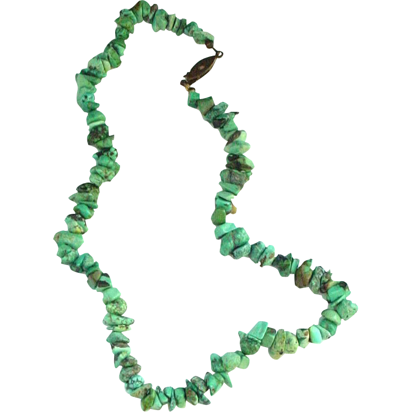 "16 1/2"" Turquoise Nugget Necklace"