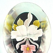 Lucite Orchid Pin