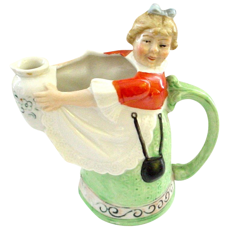 Schafer & Vater German Figural Milkmaid Pitcher or Creamer