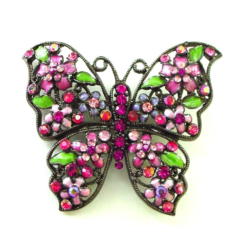 Pretty and Large Feminine Butterfly Pin