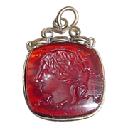 Antique Intaglio of Medusa Fob