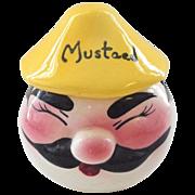 DeForest Figural Mustard Jar 1950s