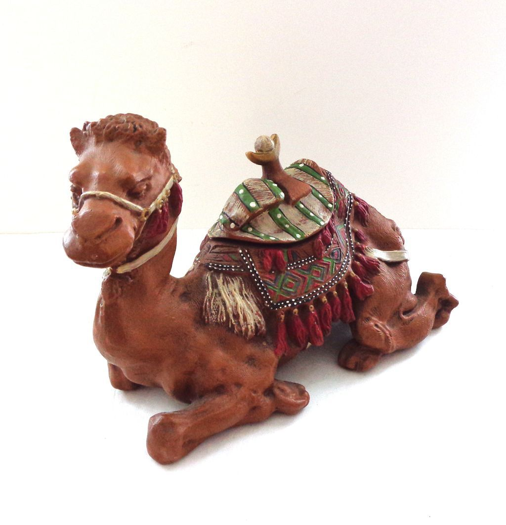 "Our Best Ever Large Antique 9"" Figural Camel Inkwell"