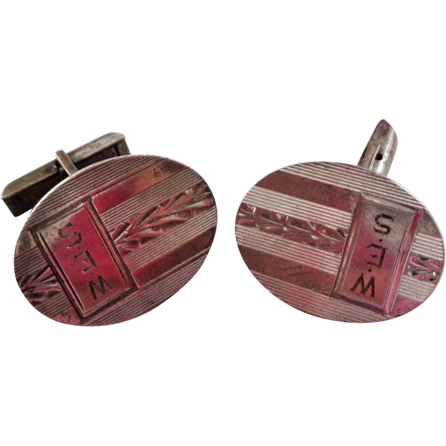 Vintage Sterling Silver Cuff Links Esenco