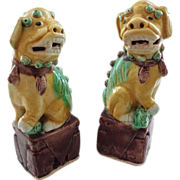3-Color (Sancai) Chinese Foo Dog Pair