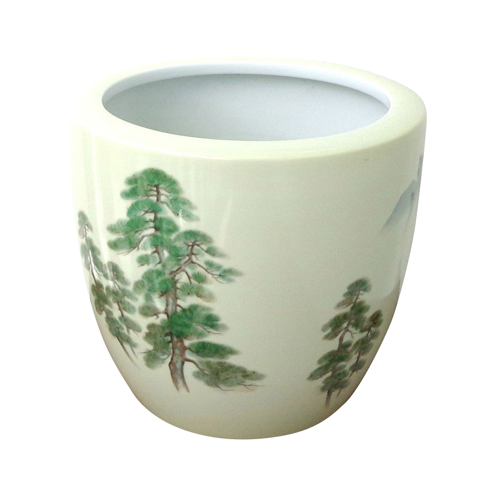 Very Large Noritake Japanese Porcelain Hand Painted Planter