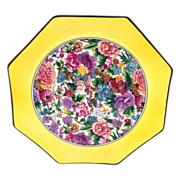 Vivid Crown Ducal Purple Chintz Octagonal Plate