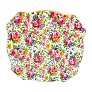Vintage Royal Winton Square Summertime Chintz Plate