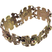 Vintage Classic Taxco Mexico Sterling Silver Link Bracelet
