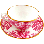 Spode England Miniature Cup and Saucer in Red