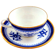 Spode England Miniature Cup and Saucer Set in Blue