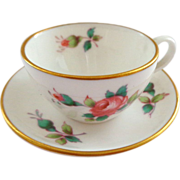 Spode England Miniature Cup and Saucer with Roses