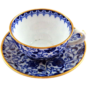 Spode England Miniature Chintz Cup and Saucer