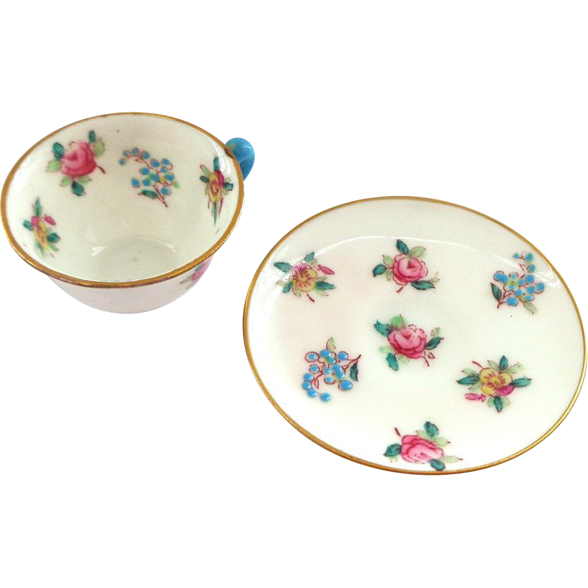 Crown Staffordshire England Miniature Cup and Saucer