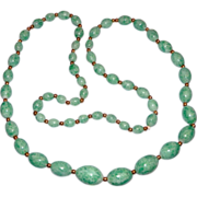 "27"" Pretty Peking Glass Bead Necklace"