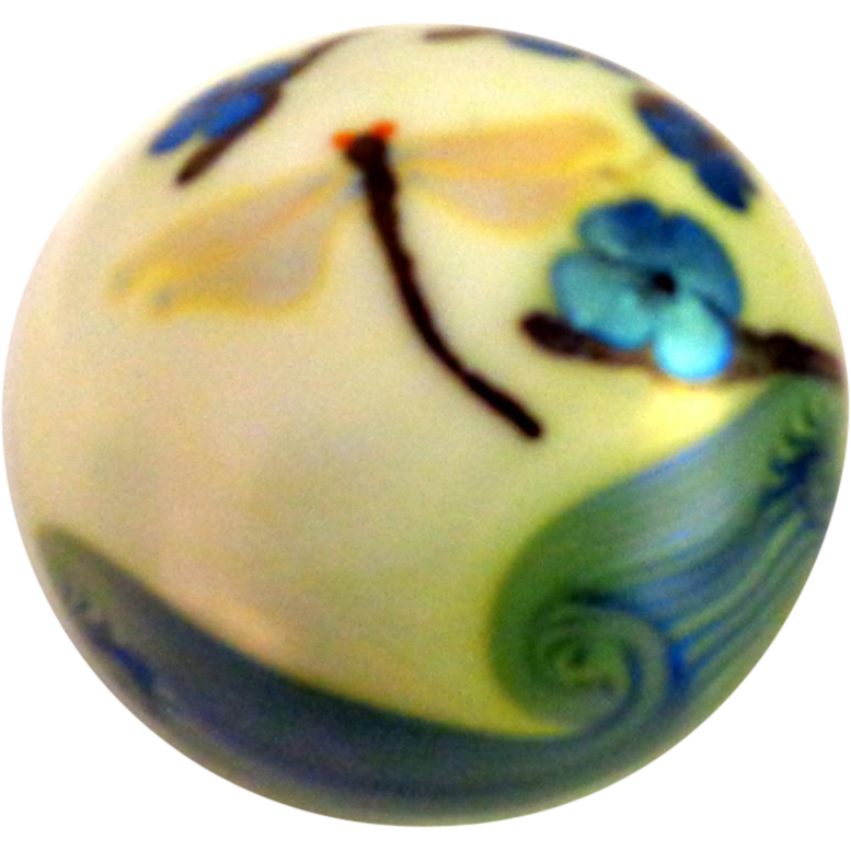 Limited Edition #27 Orient and Flume 1975 Dragonfly Paperweight