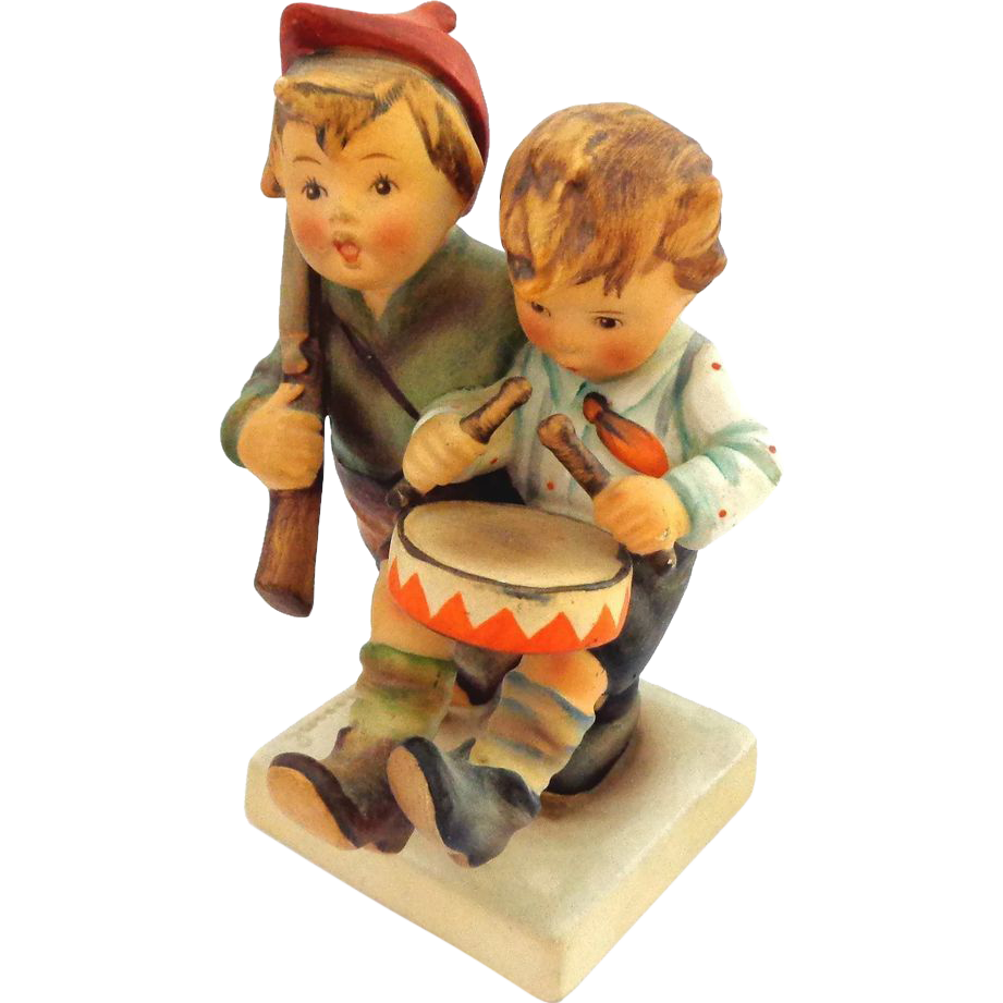 Older 1950's Hummel Volunteers  Double Figurine