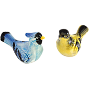 Pair of Figural Bird Sachet or Potpourri Holders