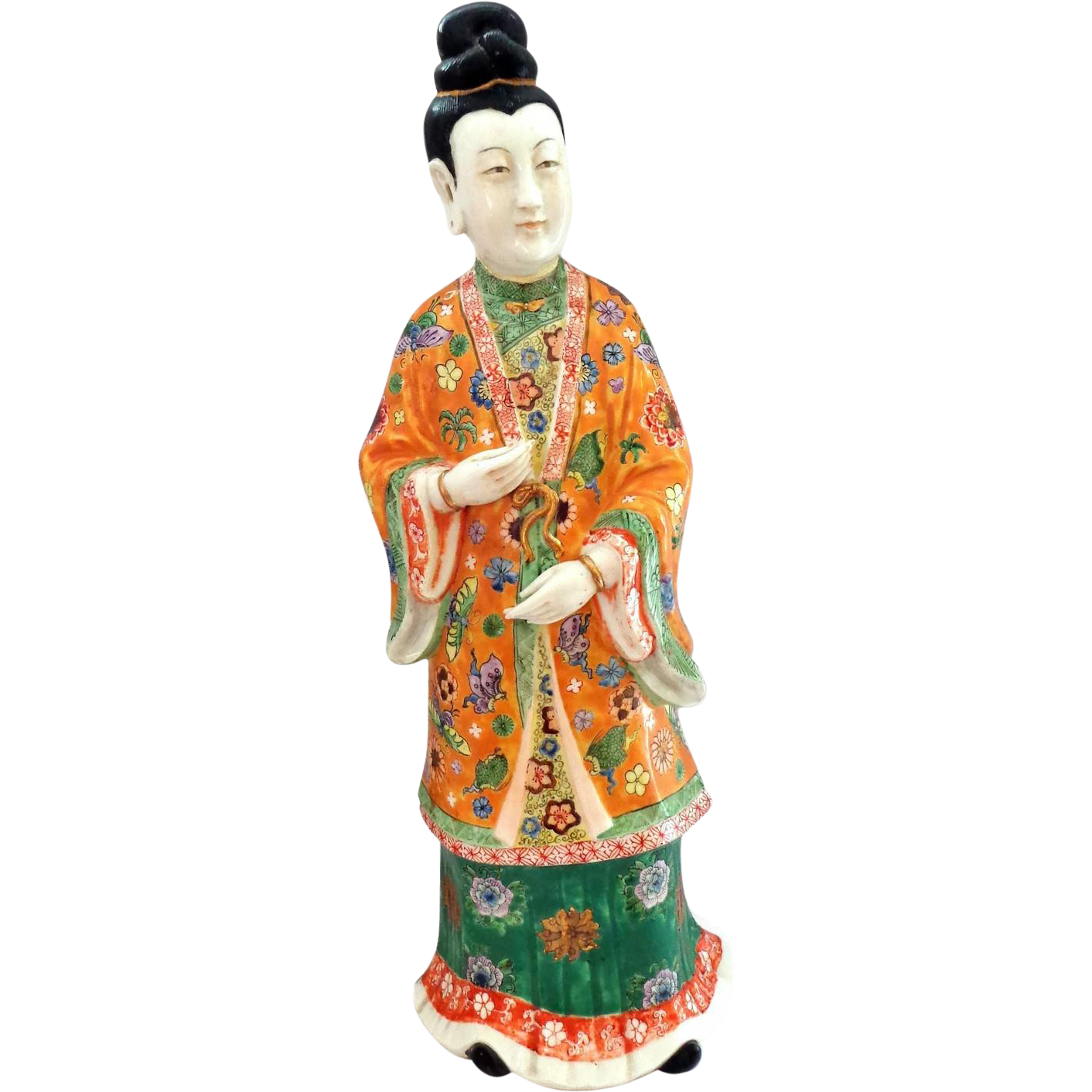 "Large Vintage Asian 19"" Qwan Yin Guanyin"