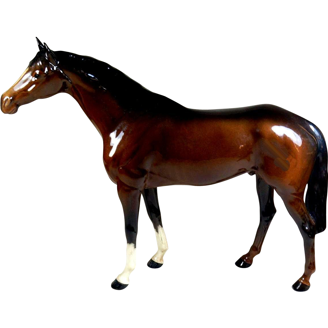 Beswick Brown Gloss Racehorse Figurine
