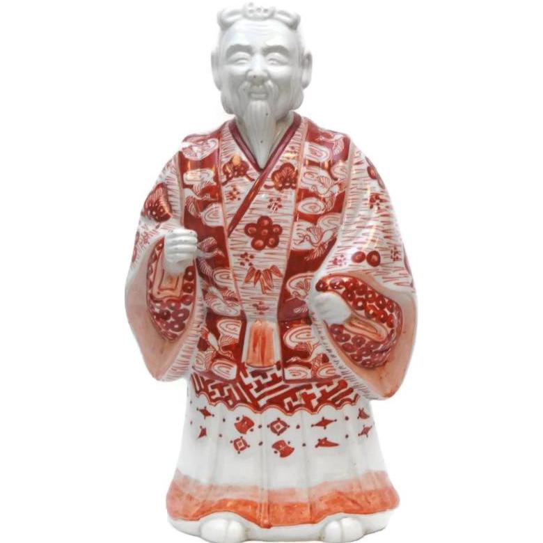 Antique Large Iron Red Glazed Chinese Figure