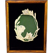 Framed Jasperware Jasper Ware Art Nouveau Plaque S&V