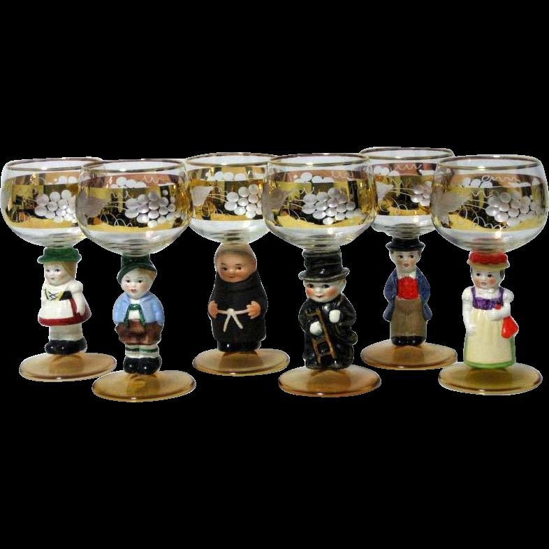 Set of 6 Vintage Goebel Wine Glasses