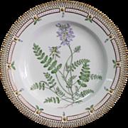 "Royal Copenhagen Flora Danica Astragalus Alpinus 10"" Dinner Plate"
