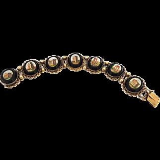 Fabulous Antique Grand Tour Micromosaic Bracelet