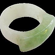 Carved Jade Saddle Ring