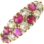 18K Ruby and Diamond Ring Size 8 3/4