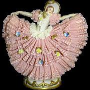 Volkstedt Dresden Lace Figurine