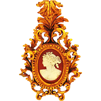 Ornate Carved Rococo Frame with Cameo Insert